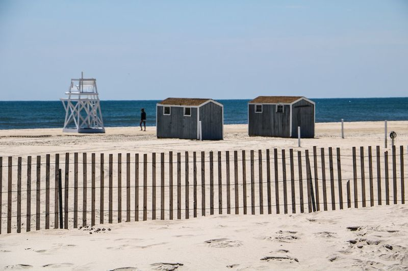 Jones Beach USAtrip New York Water Sea Sand Beach Horizon Horizon Over Water Nature Clear Sky Tranquility Beauty In Nature Tranquil Scene Outdoors Wooden Post Day