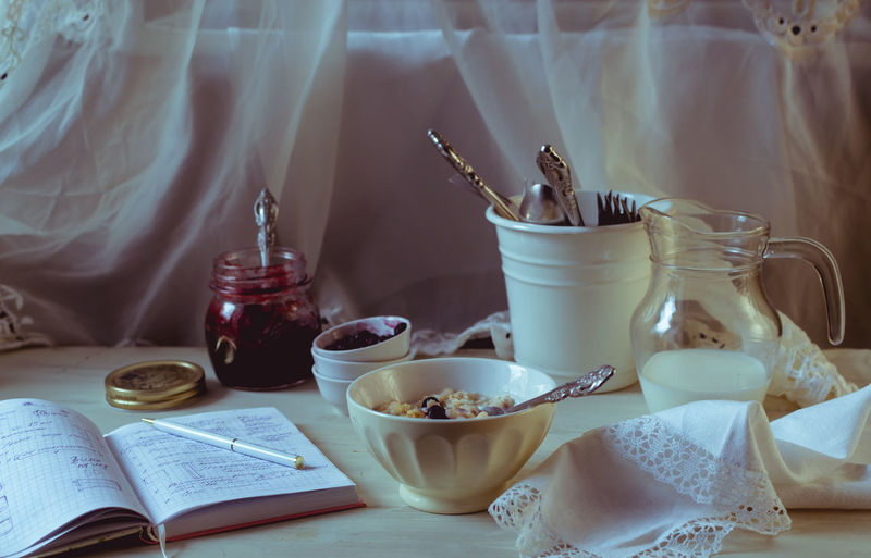 Book Breakfast Close-up Day Drink Food Food And Drink food stories Freshness Healthy Eating Indoors  Morning Rituals No People Porridge Time Still Life Table Winter Morning The Still Life Photographer - 2018 EyeEm Awards