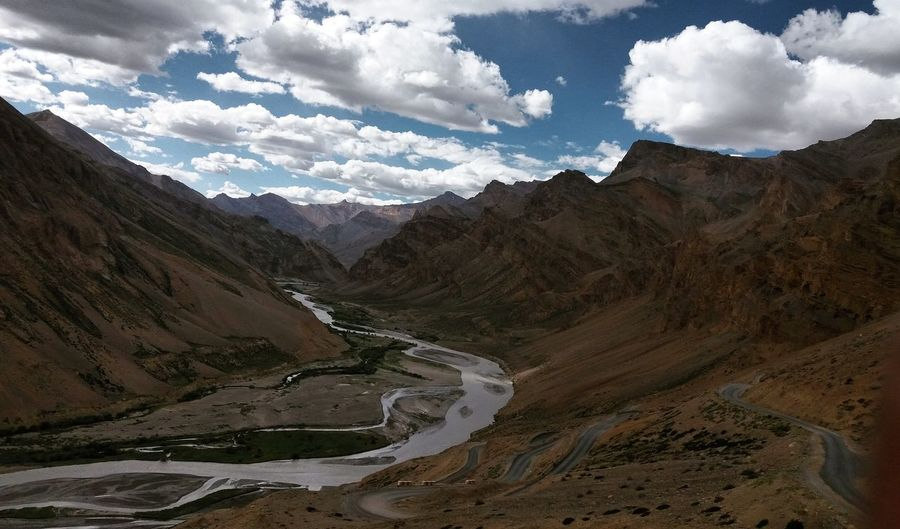 Cloud - Sky Mountain Landscape Sky Mountain Range Nature Beauty In Nature Outdoors Day Scenics Winding Road Landscapes Of Himalayas Incredible India Done That.