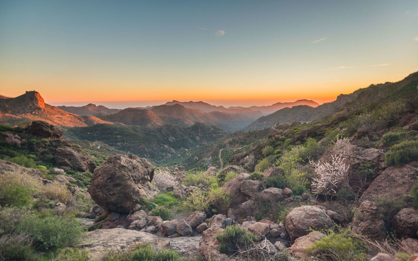 Atardecer Beauty In Nature Canarias Day HDR Landscape Mountain Mountain Range Nature No People Outdoors Paisaje Scenics Sky Sunset Tranquil Scene Tranquility