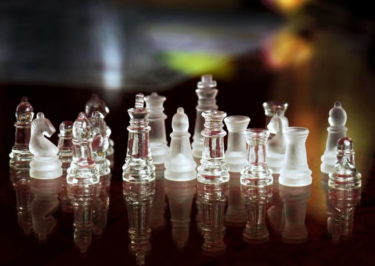 Board Game Game Chess Leisure Games Chess Piece Large Group Of Objects Indoors  Glass - Material No People Arrangement Leisure Activity Relaxation Chess Board Close-up Strategy Focus On Foreground Table Still Life Transparent Pawn - Chess Piece Queen - Chess Piece Knight - Chess Piece King - Chess Piece