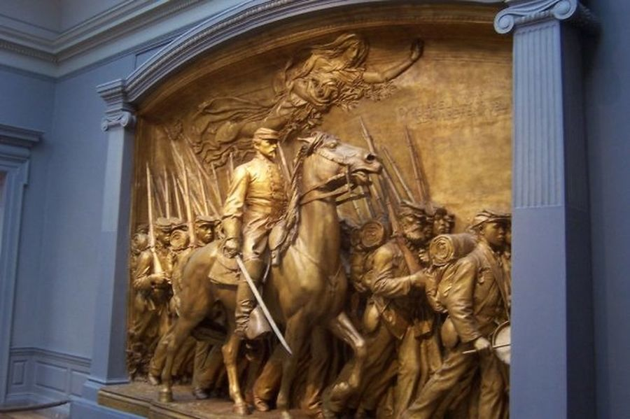 Human Representation Low Angle View Massachusetts Fifty-Fourth Regiment Memorial To Robert Gould Shaw And The Massachusetts Fifty-Fourth Regiment National Gallery Of Art Plaster Cast Robert Gould Shaw Tourism Travel Destinations