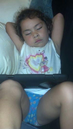 :) she fell asleep watching her cartoons on her iPad.