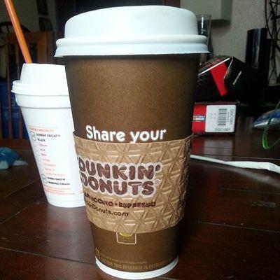 Latte life Latte Frenchvanilla Dunkindonuts Extravagant yum coffee morningritual