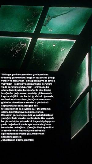 """görme biçimleri"" John Berger No People Window Green Color Communication Pattern Close-up"
