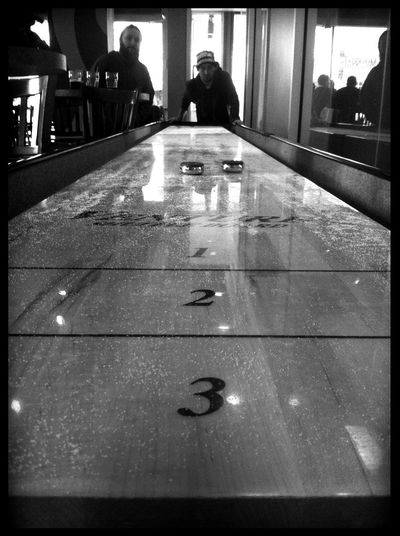 Shuffle Board at Tap Room Spring House Brewing Co Shuffle Board