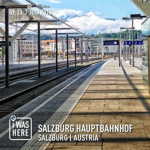 Train Tracks Salzburg Bahnhof Public Transportation