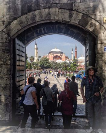 Sultanahmet camiinden Ayasofya .. İstanbul Remembrance Architecture Hagia Sophia, Church, Mosque, Sultan Ahmet Historic