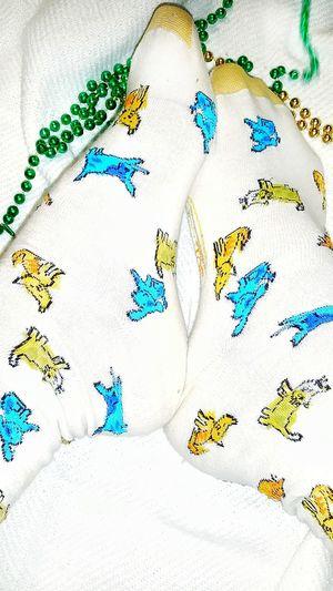 TK Maxx Socksie Close-up Socks Clothing Beads-necklace Multicolors  Soft Texture Colorful Socks Cute Socks Marti Gras Cat Design Cat Socks Bright Colors Design Colorful Pattern Long Socks Foot Softness Texture Beads Funny Socks Comfortable Multi Colored Multicolors