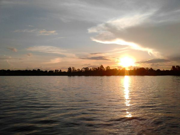 An Eagle-like or Dragon-like Cloud Flying above the setting Sun; Kalimantan Timur INDONESIA
