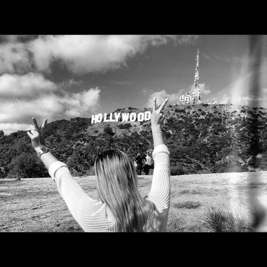 seeing the hollywood-sign for the first time Me Tb La Hollywoodsign girlstrip missit beverlyhills