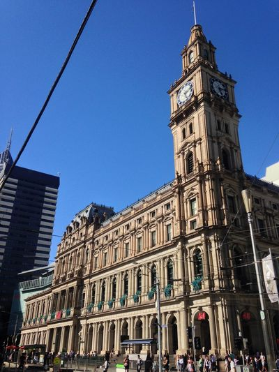 GPO Melbourne Victoria Victoria Architecture Building Exterior Built Structure City Clear Sky Day Gpo History Low Angle View Melbourne Outdoors Travel Destinations