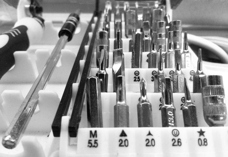 Close-up of toolbox