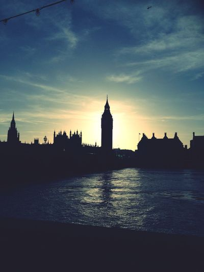 Silhouette London Sunset Eye4photography  Streetphotography Sunset Silhouettes