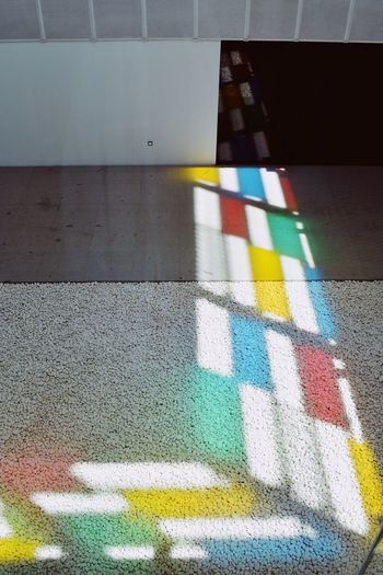 Light Multi Colored No People Pattern Road Marking Symbol Marking Architecture High Angle View Day Creativity Flooring 17.62°