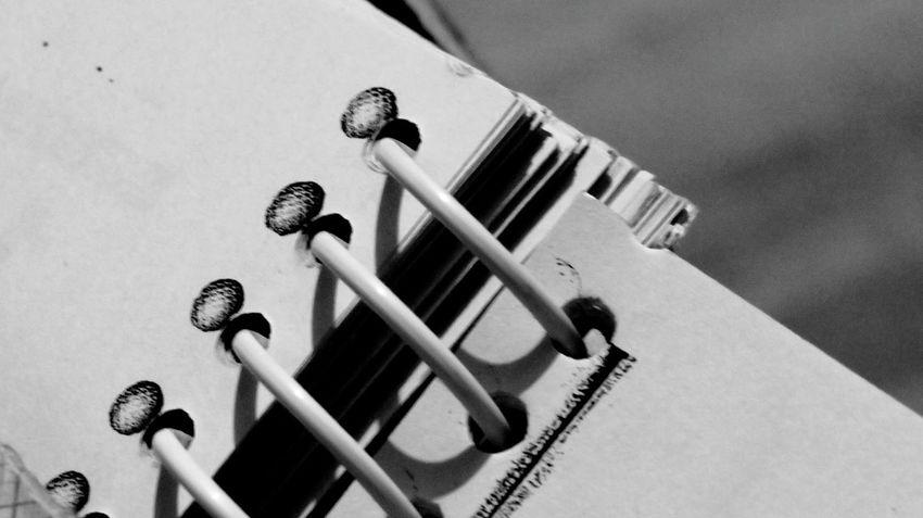 No People Close-up Notebook Study Spiral Notebook Closeupshot Close-up Shot Timepass Click Random Shot Enjoy The New Normal EyeEm Best Shots Love To Take Photos ❤ Blackandwhitephotography Black And White Photography Hello World ✌ Close Up Photography Black And White Collection Through My Eyes Indoors  Bnw Love To Take Photos :)