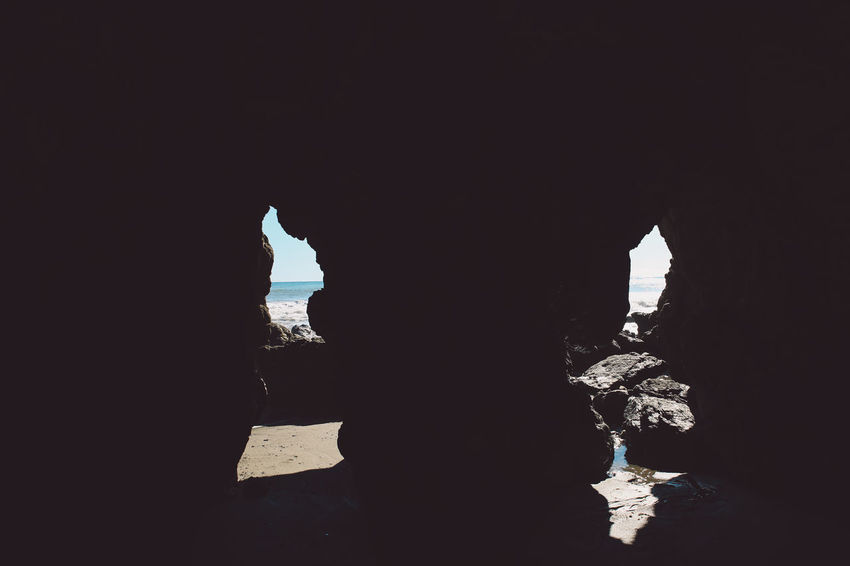 California El Matador Beach Pacific Beauty In Nature Cave Day Indoors  Natural Arch Nature No People Ocean Physical Geography Rock - Object Rock Formation Scenics Shore Silhouette Sky Tranquility Water