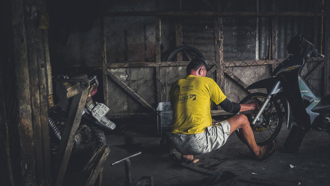 Hard Hard Work Pays Off Hard Working Hard Rock Hard Life Hard Day Yellow Color Man At Work One Person Dirty Black And White Mobile Photography Project Outdoors Color Pop!🎨 Water Tire Tools Dad Poor People  Human Interest EyeEmNewHere