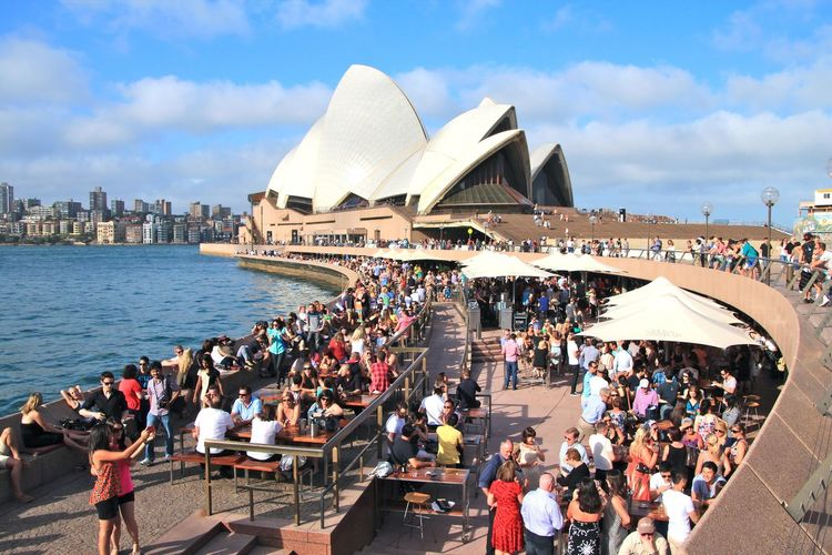 Australia New South Wales  Opera Bar Port Jackson Sydney Opera House Sydney Harbour  Architecture City Life Cloud - Sky Sydney Travel Destinations Water