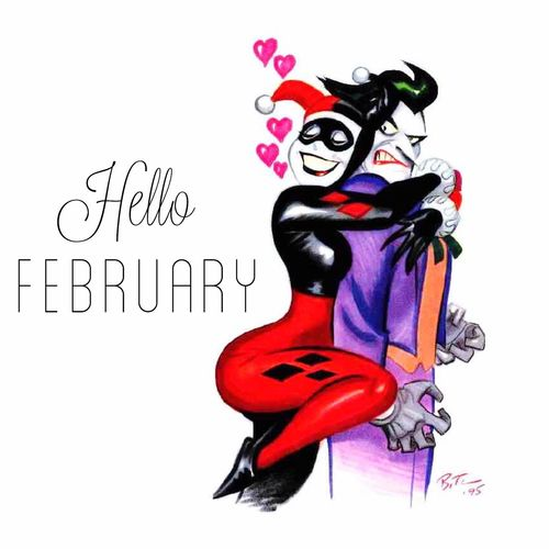 Hello February Harley Quinn The Joker & Harley Quinn The Joker Joker DC Comics Bruce Timm