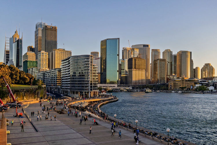 City Landscape. Australia Sydney, Australia Architecture Building Building Exterior Built Structure City City Life Cityscape Clear Sky Crowd Group Of People Landscape Large Group Of People Modern Nature Office Building Exterior Outdoors Sky Skyscraper Tall - High Travel Destinations Urban Skyline Water