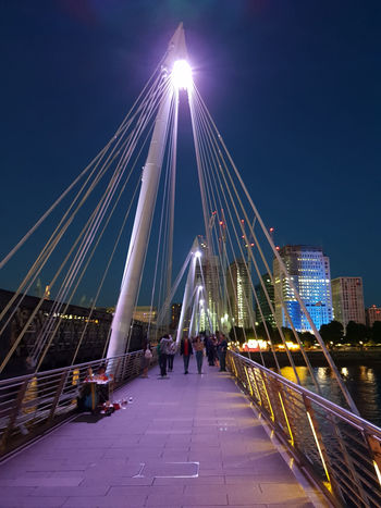 Hungerford Bridge Architecture Architecture_collection Light Night Lights Night Photography Nightphotography Architecture Bridge Bridge - Man Made Structure Building Building Exterior Built Structure City Connection Group Of People Illuminated Lifestyles Light And Shadow Men Modern Nature Night Office Building Exterior Outdoors People Real People Sky Skyscraper The Way Forward Travel Destinations Women