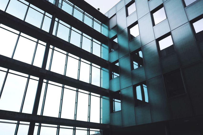 Architecture Architecture_collection The Architect - 2016 EyeEm Awards Reflection Modern Architecture Geometric Shapes Urban Urban Geometry From My Point Of View Angle Angles And Lines at Basel, Switzerland Showcase June The City Light