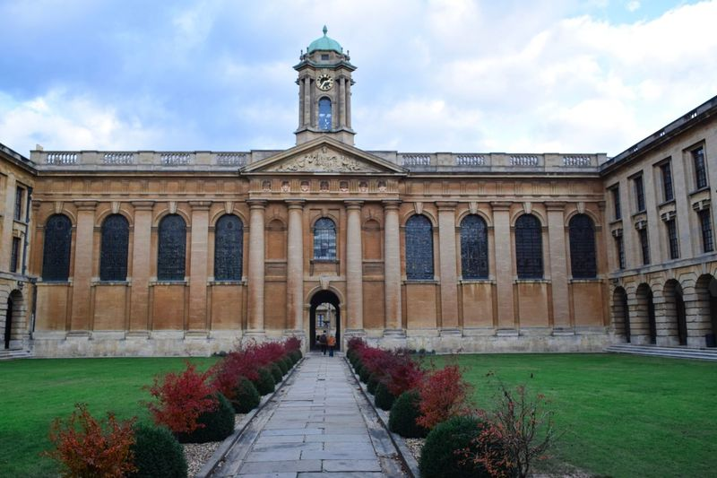 University of Oxford University Architecture Built Structure Building Exterior Sky Cloud - Sky Nature Building Façade Travel Destinations Day Arch Plant The Way Forward Direction The Past History Travel Religion Place Of Worship Outdoors