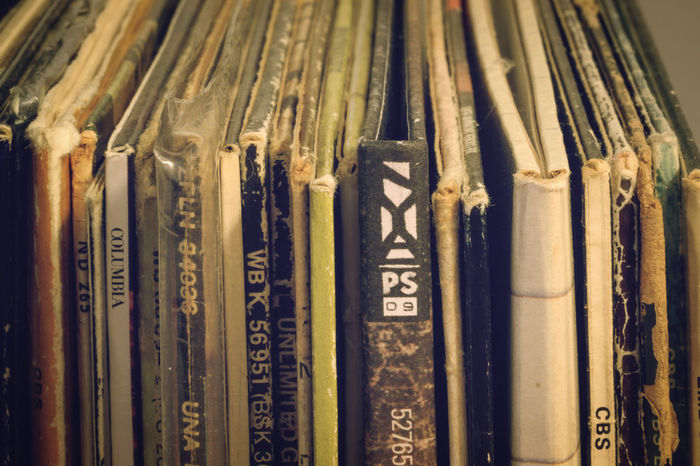 Arrangement Close-up Design Detail Full Frame In A Row Indoors  Metal No People Old Old-fashioned Order Ornate Part Of Pattern Pattern Pieces Records Repetition Still Life Text The Week Of Eyeem Vinil Wall Wall - Building Feature First Eyeem Photo