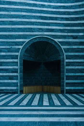 Mario Botta Mogno Travel Travel Photography Arch Architecture Brick Brick Wall Building Building Exterior Built Structure Closed Day Door Entrance Full Frame Geometric Shape Nature No People Outdoors Pattern Switzerland Wall Wall - Building Feature Wood - Material