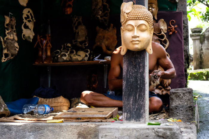 Bali Bali, Indonesia Buddha Craft Culture Culture And Tradition Forced Perspective Street Photography Streetphotography Ubud Ubud, Bali
