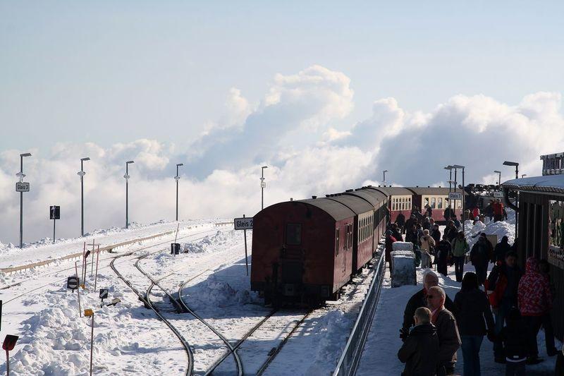 Brocken Overhead View OverviewPoint Overview Harz Sachsen-Anhalt Brockenbahn BrockenBlick Train Trainstation Sky Clouds Clouds And Sky Sky And Clouds Snow Snow ❄ Harz Bilder Winter