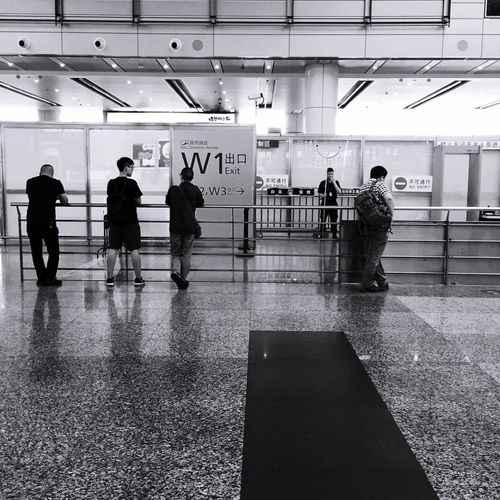 Taking Photos The Moment Stree Photography On The Road Black & White People Airport