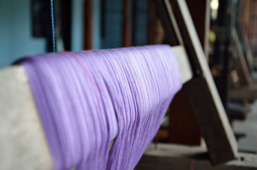 Close-up Day Detail Flower Focus On Foreground Hand Loom Landscape Multi Colored No People Petal Pink Color Purple Selective Focus Softness Textile Textile Art Textileart Weaving