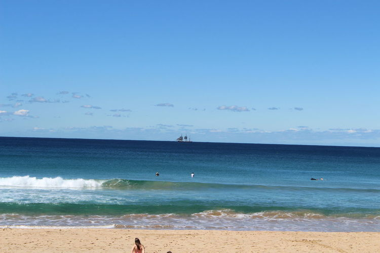 a Beach Life Beach Photography Beach View Beach Walk Wave Blue Sky With Blue Sea Boat Manly Beach Sydney Surfing