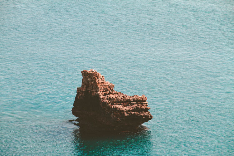 Rock Sea Water Solid Rock - Object Tranquility Scenics - Nature Rock Formation Tranquil Scene Beauty In Nature No People Nature Blue Day High Angle View Idyllic Land Waterfront Outdoors Stack Rock Eroded Manzara Antalya Antalya Turkey Antalya♥