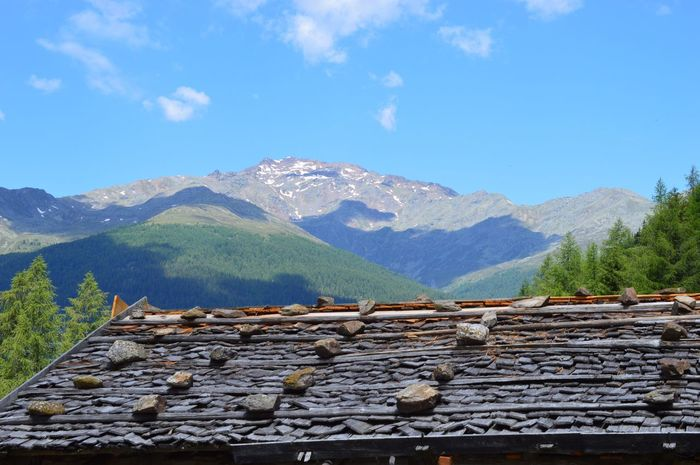 Italien Italy Italia South Tyrol Alto Adige Südtirol Ultental Mountain Sky Mountain Range Tree Nature Cloud - Sky Blue Scenics - Nature Beauty In Nature Day Tranquil Scene Architecture Plant No People Tranquility Built Structure Landscape