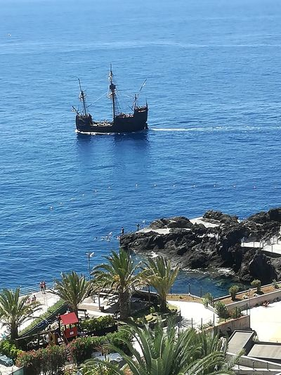Barco Mar Ship Sea View View From Above View From The Window... Sea View Funchal Funchal Madeira Madeira Madeira Island Portugal Eye4photography  Ig_captures IloveMadeira I Love Madeira Sea