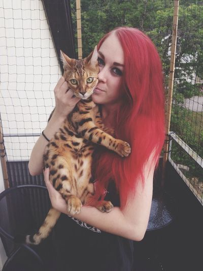 Babe and her kitty.
