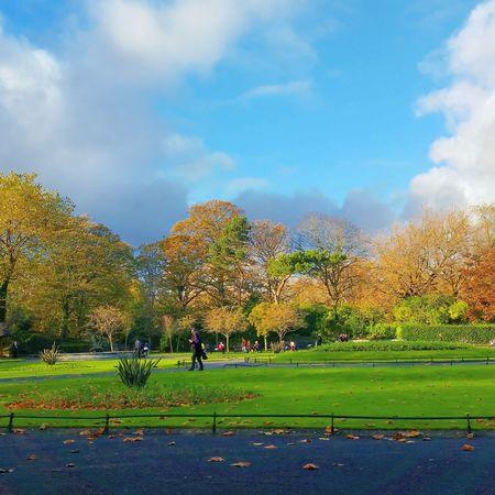 St. Stephens Green Dublin Ireland Autumn Colors