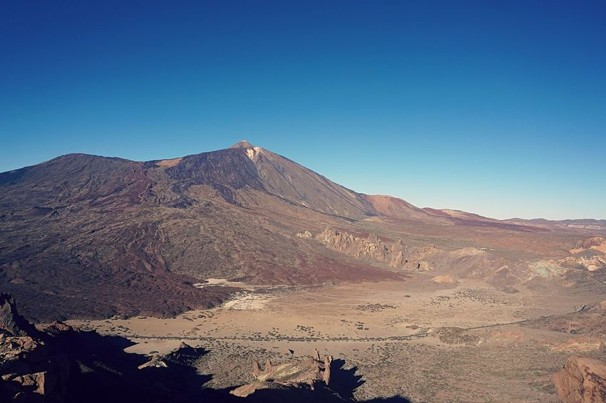 Copy Space Volcanic Landscape Teide National Park Scenics Mountain Range Arid Climate No People Day Blue Beauty In Nature Desert Landscape Sky