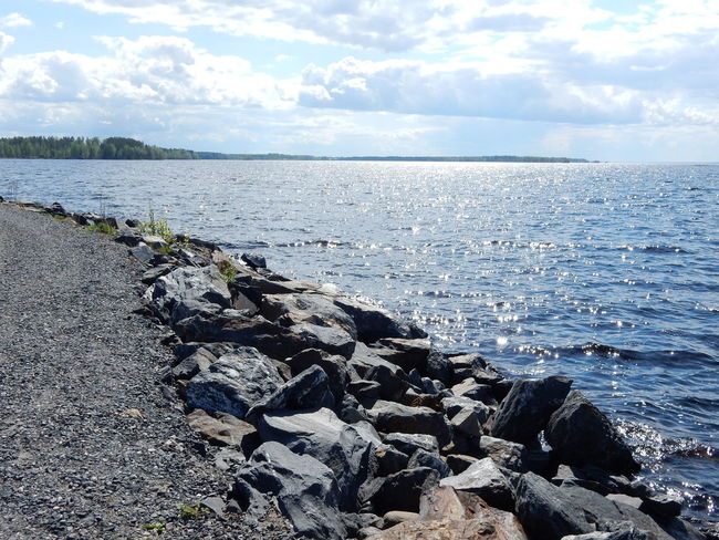 Beauty In Nature Cloud Cloud - Sky Cloudy Day Horizon Over Water Nature No People Outdoors Rock Rock - Object Scenics Sea Shore Sky Stone Stone - Object Water