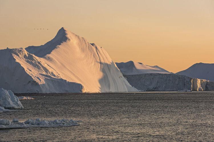 Glacier Glaciers Greenland Ice Iceberg Ilulissat Landscape Mountain Nature Naturelovers North Ocean Sea Snow Sunlight Sunlight And Shadow Sunset Winter