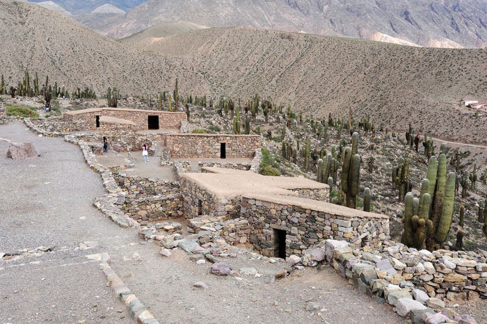 Archeological Site Architecture Argentina Built Structure Day Desert History House Jujuy Landscape Mountain Mountain Range Nature No People Outdoors Pucara Rural Scene Scenics Sky Tilcara