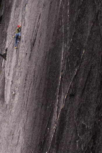 Full length of person on rock