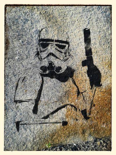 Soldado imperial (de Bansky?) Stars Wars Bansky ? A Coruña