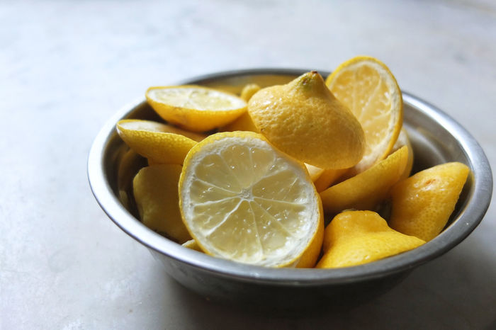 Bowl Citrus Fruit Close-up Dried Fruit Food Lemon No People Ready-to-eat Still Life Yellow Home Is Where The Art Is Food Waste