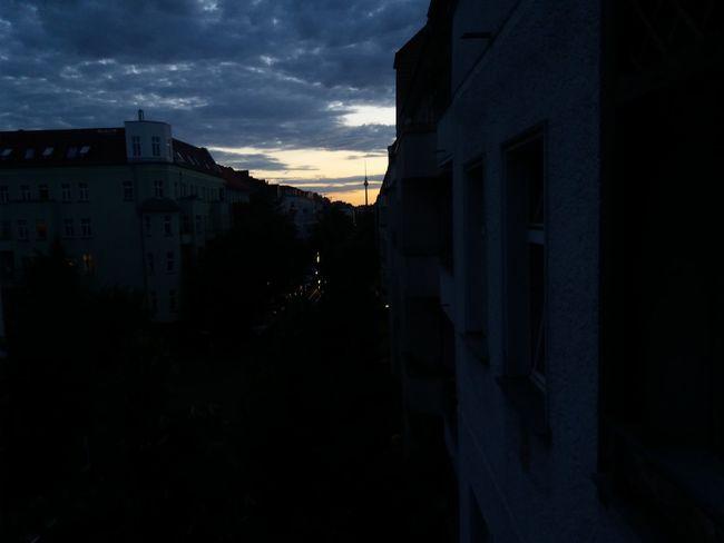 Berlin Fhain FHainKiez tvtower Sunset City Silhouette Sky No People Night Cityscape Outdoors Friedrichshain First Eyeem Photo