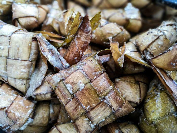 EyeEm Selects Large Group Of Objects Stack Food Nature Ketupat Ketupatlebaran Aidiladha Traditional Food Malayfood Close-up Day