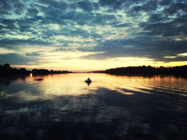 Oka river Russia Sunset Nature